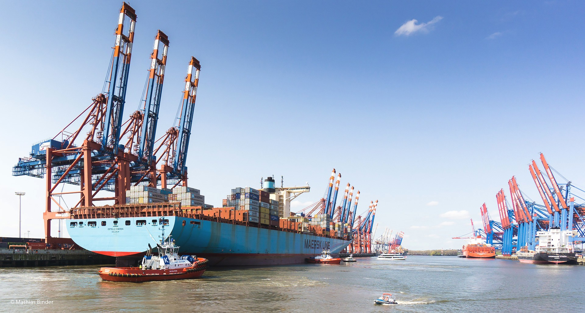 Ankunft Maersk Line Hamburg Eurogate